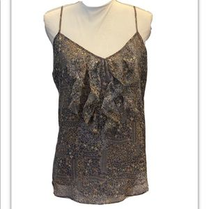 Old Navy, Gray Floral Print Cami. Size Large.